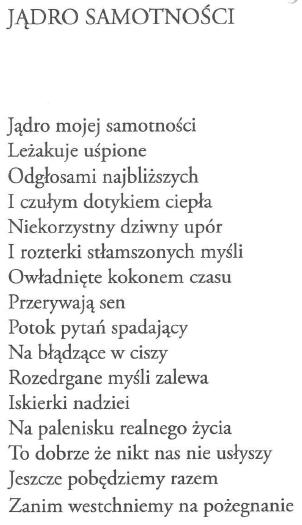 Wiersze Wojciecha Ziółkowskiego Jądro Samotności Reporter