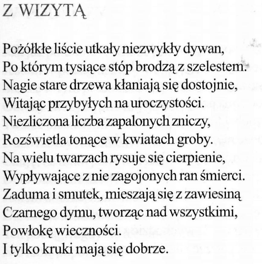 Wojciech Ziółkowski Wiersz Na święto Zmarłych Reporter 24pl